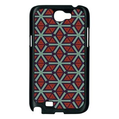 Cubes pattern abstract design Samsung Galaxy Note 2 Case (Black)