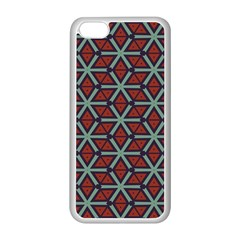 Cubes Pattern Abstract Design Apple Iphone 5c Seamless Case (white)