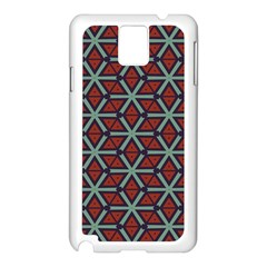 Cubes pattern abstract design Samsung Galaxy Note 3 N9005 Case (White)