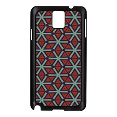 Cubes pattern abstract design Samsung Galaxy Note 3 N9005 Case (Black)
