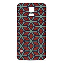 Cubes pattern abstract design Samsung Galaxy S5 Back Case (White)