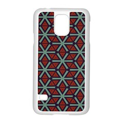 Cubes pattern abstract design Samsung Galaxy S5 Case (White)