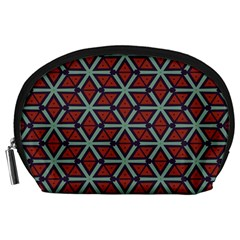 Cubes Pattern Abstract Design Accessory Pouch (large)