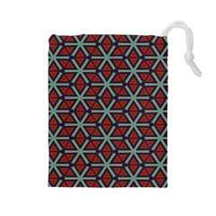 Cubes pattern abstract design Drawstring Pouch (Large)