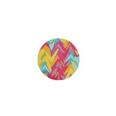 Paint Strokes Abstract Design 1  Mini Button