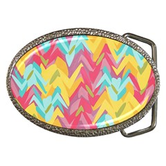 Paint Strokes Abstract Design Belt Buckle