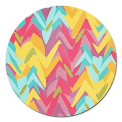 Paint Strokes Abstract Design Magnet 5  (round)