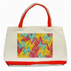 Paint strokes abstract design Classic Tote Bag (Red)