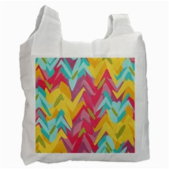 Paint Strokes Abstract Design Recycle Bag (one Side)