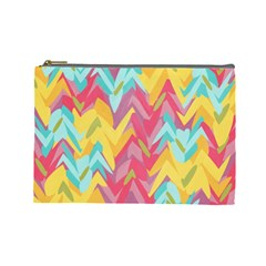 Paint Strokes Abstract Design Cosmetic Bag (large)