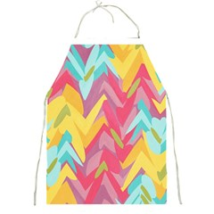 Paint Strokes Abstract Design Full Print Apron