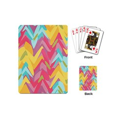 Paint Strokes Abstract Design Playing Cards (mini)