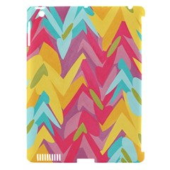 Paint Strokes Abstract Design Apple Ipad 3/4 Hardshell Case (compatible With Smart Cover)