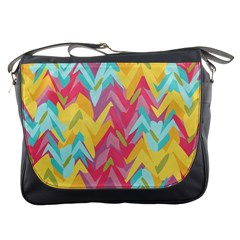 Paint Strokes Abstract Design Messenger Bag