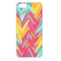 Paint Strokes Abstract Design Apple Iphone 5 Seamless Case (white)