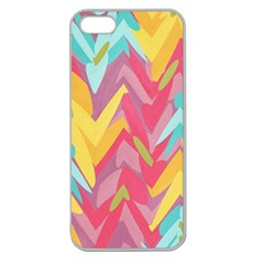 Paint Strokes Abstract Design Apple Seamless Iphone 5 Case (clear)