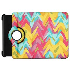 Paint Strokes Abstract Design Kindle Fire Hd Flip 360 Case