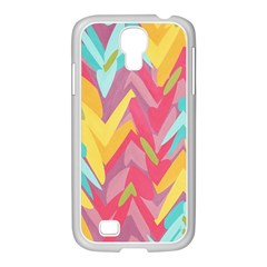 Paint Strokes Abstract Design Samsung Galaxy S4 I9500/ I9505 Case (white)