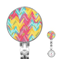 Paint strokes abstract design Stainless Steel Nurses Watch