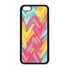 Paint Strokes Abstract Design Apple Iphone 5c Seamless Case (black)