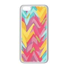 Paint Strokes Abstract Design Apple Iphone 5c Seamless Case (white)