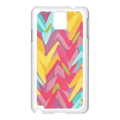 Paint strokes abstract design Samsung Galaxy Note 3 N9005 Case (White)