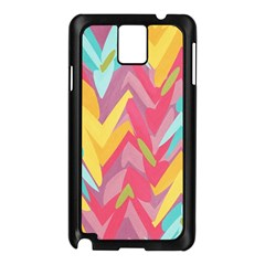 Paint strokes abstract design Samsung Galaxy Note 3 N9005 Case (Black)