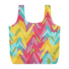 Paint strokes abstract design Full Print Recycle Bag (L)