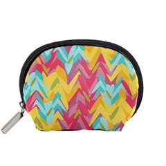 Paint Strokes Abstract Design Accessory Pouch (small)