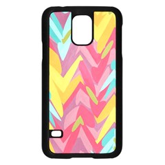 Paint strokes abstract design Samsung Galaxy S5 Case (Black)