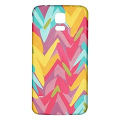 Paint Strokes Abstract Design Samsung Galaxy S5 Back Case (white)