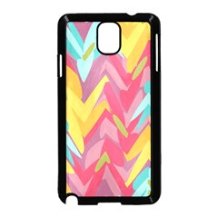 Paint Strokes Abstract Design Samsung Galaxy Note 3 Neo Hardshell Case (black)