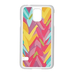 Paint Strokes Abstract Design Samsung Galaxy S5 Case (white)