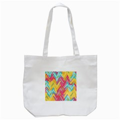 Paint strokes abstract design Tote Bag (White)