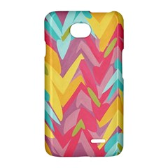 Paint strokes abstract design LG Optimus L70 Hardshell Case