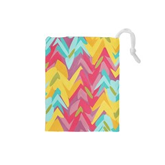 Paint Strokes Abstract Design Drawstring Pouch (small)
