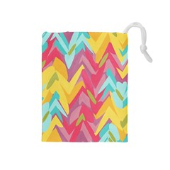 Paint strokes abstract design Drawstring Pouch (Medium)