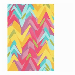 Paint strokes abstract design Small Garden Flag (Two Sides)