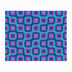 Blue Purple Squares Pattern Glasses Cloth (small, Two Sides)
