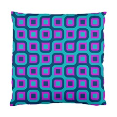 Blue Purple Squares Pattern Standard Cushion Case (two Sides)