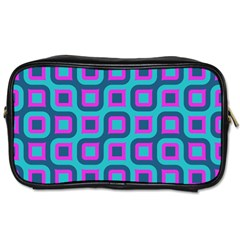 Blue Purple Squares Pattern Toiletries Bag (two Sides)