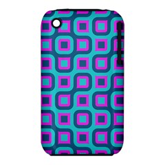 Blue purple squares pattern Apple iPhone 3G/3GS Hardshell Case (PC+Silicone)
