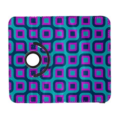 Blue Purple Squares Pattern Samsung Galaxy S  Iii Flip 360 Case