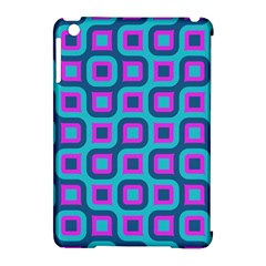 Blue Purple Squares Pattern Apple Ipad Mini Hardshell Case (compatible With Smart Cover)