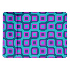 Blue purple squares pattern Samsung Galaxy Tab 10.1  P7500 Flip Case