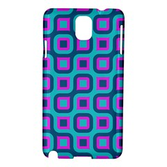 Blue Purple Squares Pattern Samsung Galaxy Note 3 N9005 Hardshell Case