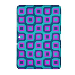 Blue purple squares pattern Samsung Galaxy Tab 2 (10.1 ) P5100 Hardshell Case