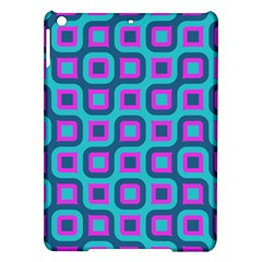 Blue purple squares pattern Apple iPad Air Hardshell Case