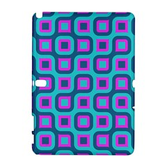 Blue Purple Squares Pattern Samsung Galaxy Note 10 1 (p600) Hardshell Case