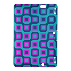 Blue purple squares pattern Kindle Fire HDX 8.9  Hardshell Case